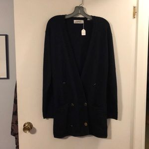 Ellen Tracy double breasted cardigan
